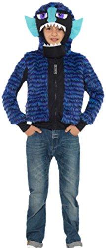 Monster, Ungeheuer Kostüm, Halloween, 134, Blau (Blaues Monster Kostüm, Kleinkind,)