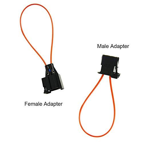 Optique Fibre optique Outil systèmes de navigation adaptateur femelle/mâle pour Mercedes Benz VW Audi BMW Porsche (adaptateur femelle + adaptateur mâle)