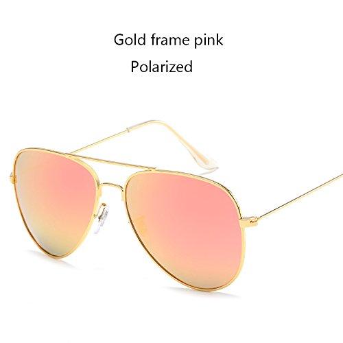 Aprigy Fashion Classic Avaitor polarisierte Sonnenbrille Frauen M?nner Driving Spiegel Pilot Sonnenbrillen Frauen M?nner Marken-Designer Unisex [Gold Rosa]