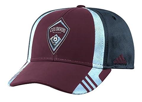 Colorado Rapids Adidas MLS 2017 Authentic Team Structured Adjustable Hat