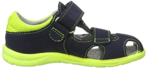 Ricosta  Foma M, sandales mode garçon Bleu - Blau (nautic/neongelb 178)