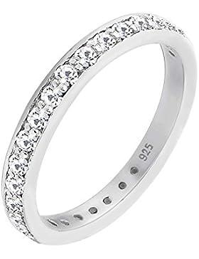 Elli Damen Bandring 925 Sterling Silber Swarovski Kristall
