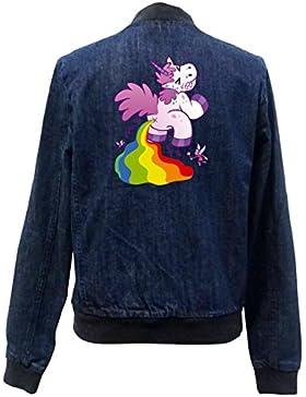 Pooping Unicorn Bomber Chaqueta Girls Jeans Certified Freak