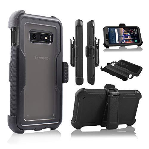 Design für Galaxy S10e 2019 Hülle, kompletter Schutz, durchsichtig, integrierter Bildschirm, Standhülle für Samsung Galaxy S10E Lite 5,8 Zoll 2019 (Schwarz) - Att Dual-sim-handy
