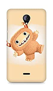 Amez designer printed 3d premium high quality back case cover for Micromax Unite 2 A106 (Funny cute Monster)
