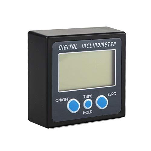 Tragbare IP54 Kunststoff Digitale Winkelmesser Neigungswinkel Box Elektronenwinkel Meter Magnetische Ebene Winkel Messwerkzeug (blau) Bottom-lcd-bildschirm-anzeige