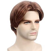 STfantasy - Parrucca per uomo con capelli sintetici in colore sfumati  medio-corti per travestimenti 7715b7ed9889