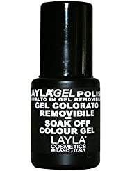 LAYLA Cosmetics One Step Gel Vernis à Ongles Red Plum, 1er Pack (1x 5ml)