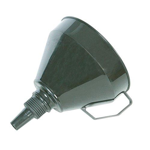 Silverline 633563 Kunststoff-Trichter mit Filtersieb 160 mm (Schwarzes Kunststoff-trichter)