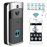 Ocamo Wireless WiFi DoorBell Smart Video Phone Door Visual Ring Intercom Secure Camera Gray