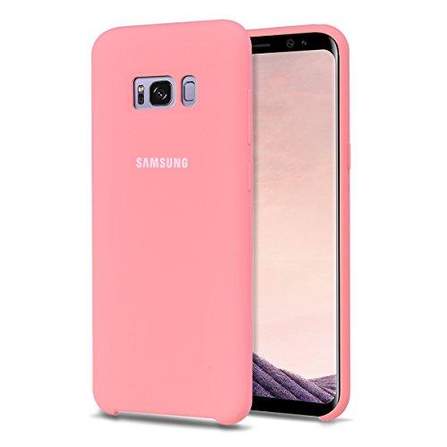 """MOONCASE Samsung Galaxy S8 Hülle, S-View Durable Rüstung Defender Handyhülle Anti-Kratzer Elastische Stoßfest Schutzhülle Cover für Samsung Galaxy S8 5.8"""" (2017) Rosa"""