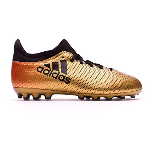 adidas Unisex-Kinder X 17.3 AG Fußballschuhe, Gold (Tagome/Cblack/Solred), 36 EU