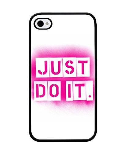 Iphone 4 Custodia Case - Just Do It Nike Brand Logo Scratch Resistant Snap On Compatible with Iphone 4 / 4s twoe-052