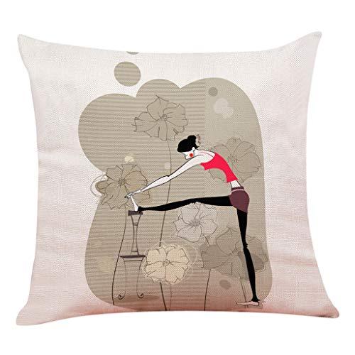 Smengg decorazione della casa cuscino federa di sport di yoga federa di tiro