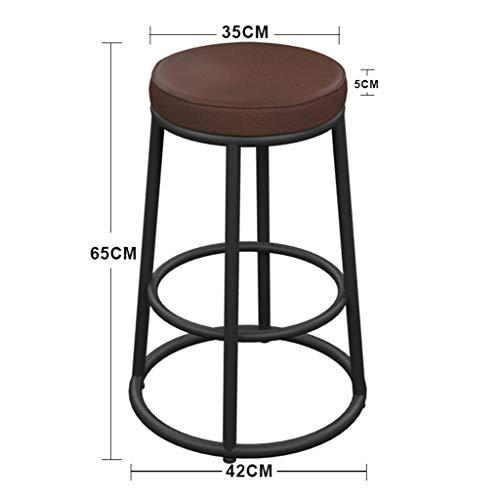 MJY Retro-Barhocker, Art Wood Cafe Bar Restaurant Barhocker Barhocker Barhocker Barhocker Höhe der Rezeption,35 * 35 * 65 cm, -
