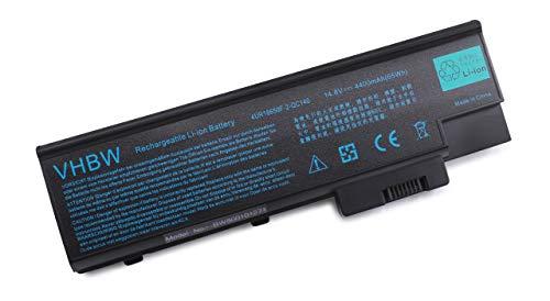 vhbw Li-ION Batterie 4400mAh (14.8V) pour Ordinateur Portable, Notebook Acer Aspire 1410, 1411, 1411WLMi, 1412, 1412LC, 1413 comme SQU-401.