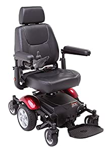 Morecare Mobility P327 Mini Mid-Wheel Drive Powerchair (Red)
