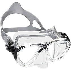 Cressi - Masque de plongée Sous Marine pour Adulte - Big Eyes Evolution - Noir (Transparent/Noir) - Taille Unique