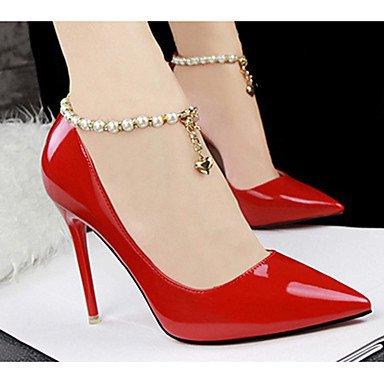 Moda Donna Sandali Sexy donna tacchi tacchi estate pu Casual Stiletto Heel altri nero / rosso / bianco / grigio altri Red