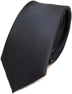 TigerTie - corbata estrecha - antracita gris oscuro monocromo