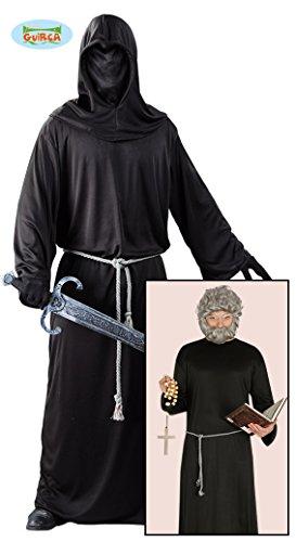 Guirca Kostüm Monaco dunkel Mittelalter für Herren, Farbe Schwarz, One Size, 24748-1