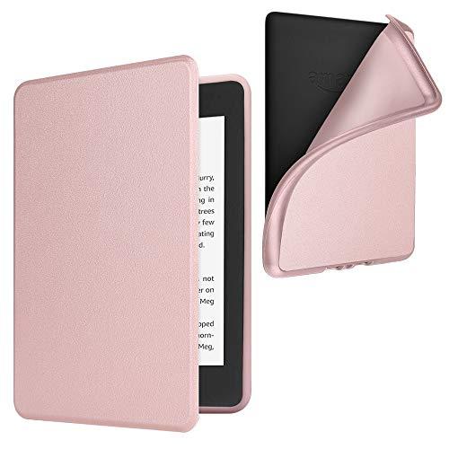 Fintie Étui pour Kindle Paperwhite (10ème génération - modèle 2018) - Coque Housse Flip Fin etléger, Fermeture magnétique avec Mise en Veille Automatique, Or Rose