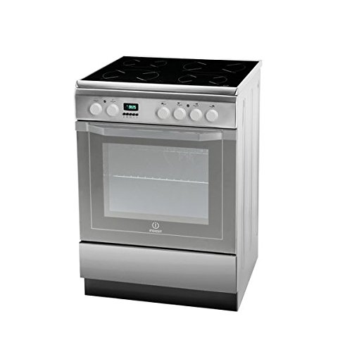Indesit I6VMC6A(X)/GR - Cocina (Cocina independiente, Acero inoxidable, Botones, Giratorio, Frente, Electrónico,...