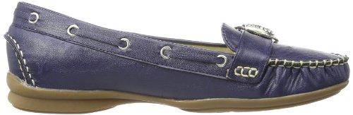 Andrea Conti  0873010, mocassins femme Bleu - Blau (dunkelblau 017)