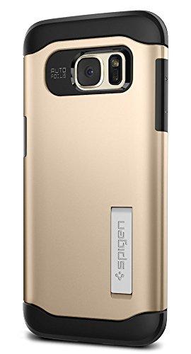 Samsung Galaxy S7 Edge Hülle, Spigen® [Slim Armor] Integrierter Kickstand [Champagne Gold] Luftpolster-Technologie an den Kanten / 2-teiliges Case Schutzhülle für Samsung S7 Edge Case, Samsung S7 Edge Cover - Champagne Gold (556CS20256)