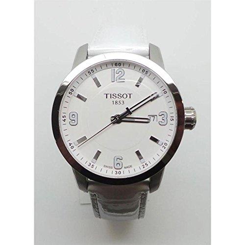 Armbanduhr Tissot PRC 200T055.410.16.017.00Quarz (Batterie) Stahl Quandrante Stahl Armband Leder