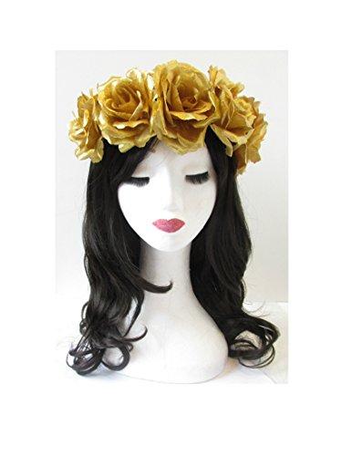 Grand Or Rose cheveux fleur couronne bandeau Guirlande vintage Festival Big Boho T22 * * * * * * * * exclusivement vendu par – Beauté * * * * * * * *