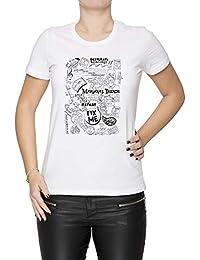Marianas Trench Mujer Camiseta Cuello Redondo Blanco Manga Corta Todos Los  Tamaños Women s White T- f4d0d808bfb5