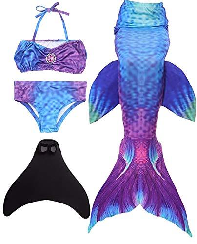 Kostüm Service - shepretty Mädchen Meerjungfrauenschwanz Bikini Set Zum Schwimmen mit Meerjungfrau Flosse Badeanzüge Prinzessin Cosplay Kostüm