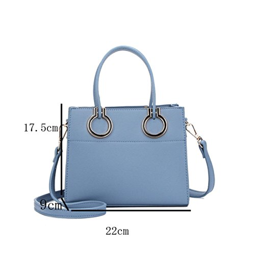 DHFUD Damen PU Umhängetasche Crossbody Handtasche Persönlichkeit Einfache Mode LightGray