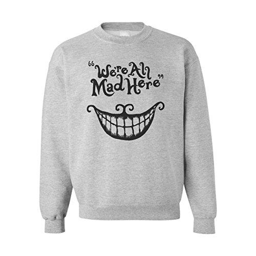 _Cheshire Cat We're All Mad Here Medium Unisex Sweater