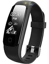 Lintelek Fitness Armband HR Aktivitätstracker Fitness Tracker Herzfrequenzmessung IP67 Wasserdicht Smart Bracelet Smartwatch Fitness-Uhr Schlaftracker Kalorienzähler MEHRWEG