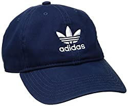 adidas Women's Originals Relaxed Fit Cap, One Size, Collegiate Navy/White