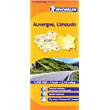Auvergne, Limousin Michelin Regional Map (Michelin Regional Maps)