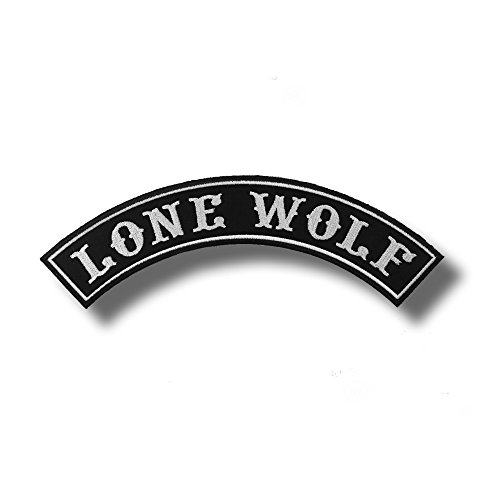 Lone wolf - embroidered patch 30 x 10 cm