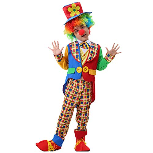BERTHACC Kleinkind Clown Kostüm Zirkus Clown Kostüme Für Halloween Karneval Fasching Cosplay,Halloween Kinder Clown (Scary Zirkus Kostüm)