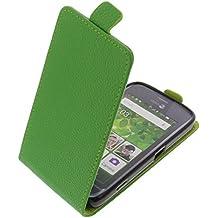 Funda para Doro Liberto 820 Mini protectora tipo flip para móvil verde