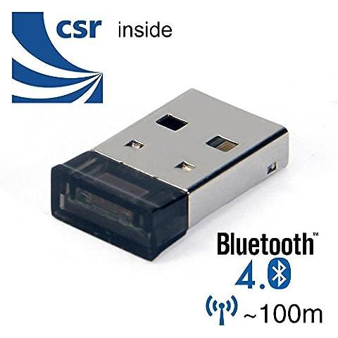 Bluetooth adattatore Dongle, GMYLE Ultra-Mini USB CSR4.0 Classe 1 Bluetooth V4.0 Dual Mode Dongle wireless adattatore