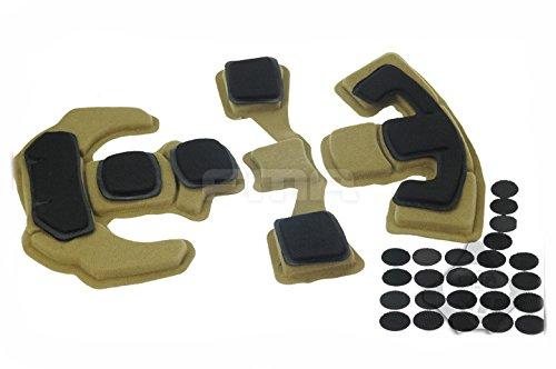 Réactualiser EXF Style Casque Mémoire Mousse Protecteur Coussin Confort Casque Velcro Tapis Rembourrer pour Militaire Armée Tactique Airsoft
