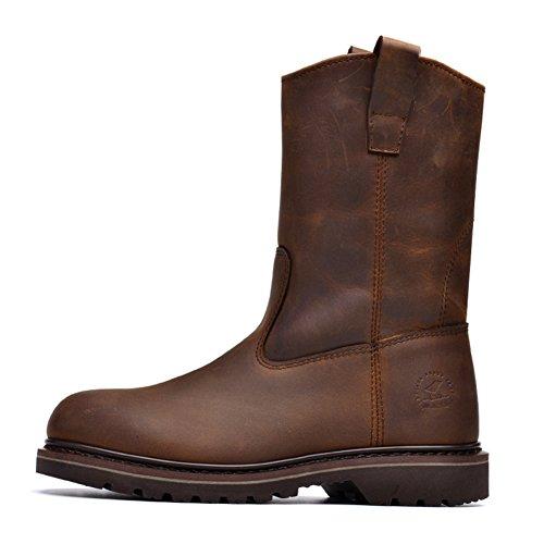 Casual Chaussures Robe Alpinisme Automne Plein Air Fond Mou Boots Glisser Sur Blanc-brun Longueur du pied=42EU