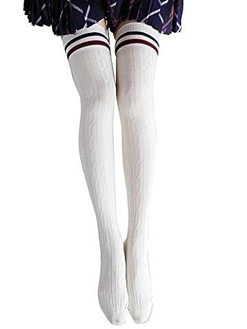 Jelinda Frauen Mädchen Strick häkeln über Knie Schenkel hoch Strümpfe