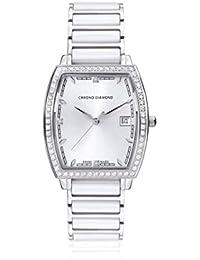 Chrono Diamond 82059 - Reloj para mujeres, correa de metal color blanco