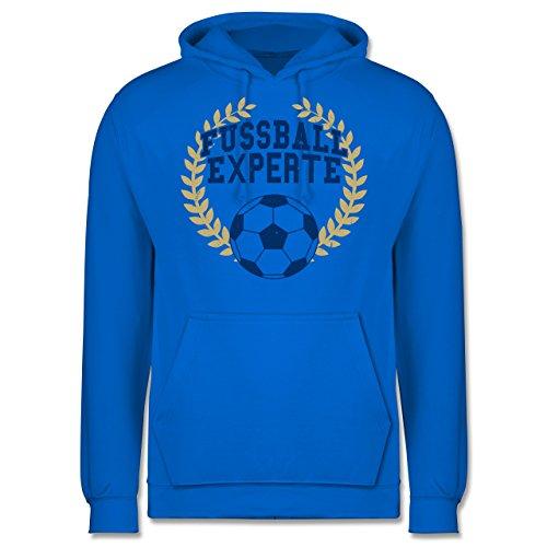 Fußball - Fussball Experte - Männer Premium Kapuzenpullover / Hoodie Himmelblau