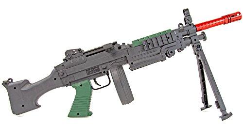 Nerd Clear Paintball-Set 500 Farbkugeln rot und Softair-Gewehr mit Schütt-Magazin Federdruck Spielzeug-Waffe 6mm max. 0,5 Joule (Airsoft-gewehr-pistole Feder)