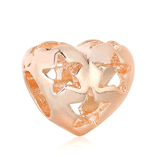 Yingyan Silber Charms Rose Gold Stern Herz Europäischen Bead Für Anhänger Halskette Armbänder...