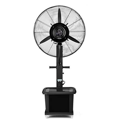 Jyfsa Standventilator Silent Oscillating Cooling Sprühnebel Large für Outdoor Industrie Business Luftbefeuchter 3-Gang / 40L Wassertank (Schwarz)